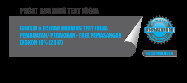 pusat running text murah di jogja